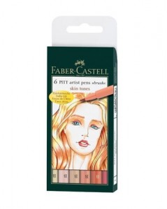 Faber-Castell - Brushstiften Skin (6pc)