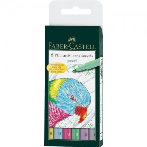 Faber-Castell - Brushstiften Pastel (6pc)