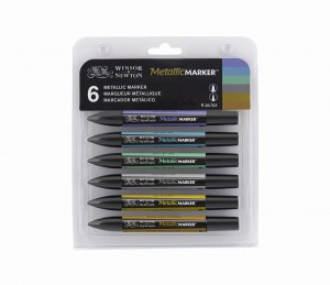 Winsor & Newton  -  Metallic Marker (6pc)
