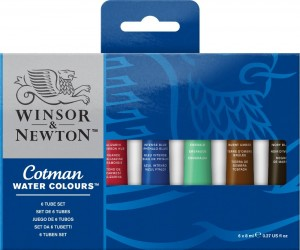 Winsor & Newton - Water Colours (6pc)