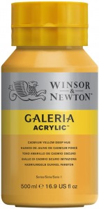 Winsor & Newton - Galeria Acrylic Cadmium Yellow Deep Hue (500ml)