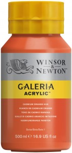 Winsor & Newton - Galeria Acrylic Cadmium Orange Hue (500ml)