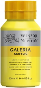 Winsor & Newton - Galeria Acrylic Cadmium Yellow Pale Hue (500ml)