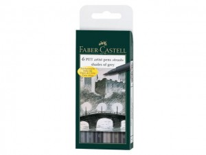 Faber-Castell - Brushstiften Grey (6pc)
